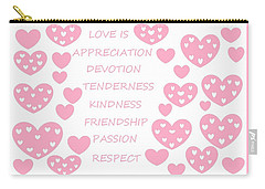Just Hearts 3 Carry-all Pouch by Linda Velasquez