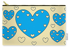 Just Hearts 4 Carry-all Pouch by Linda Velasquez