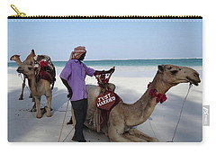 Just Married Camels Kenya Beach 2 Carry-all Pouch by Exploramum Exploramum