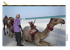 Just Married Camels Kenya Beach Carry-all Pouch
