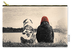 Carry-all Pouch featuring the painting Just Sitting In The Morning Sun by Chris Armytage