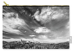 Carry-all Pouch featuring the photograph Just The Clouds by Jon Glaser