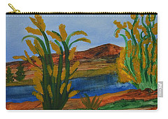 Carry-all Pouch featuring the painting Just This Side Of The River by Maria Urso