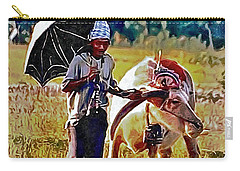 Just Walking His Water Buffalo Carry-all Pouch