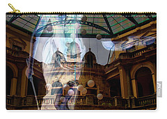 Carry-all Pouch featuring the photograph Justice Is Blind by Al Bourassa