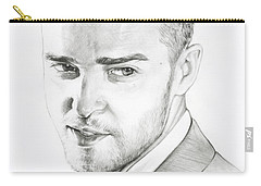 Justin Timberlake Drawing Carry-all Pouch