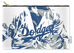 Justin Turner Los Angeles Dodgers Pixel Art 15 Carry-all Pouch