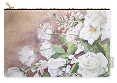 Justin's Flowers Carry-all Pouch by Marilyn Zalatan