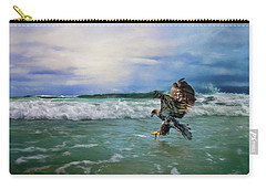 Juvenile Eagle At Sea Wildlife Art Carry-all Pouch by Jai Johnson