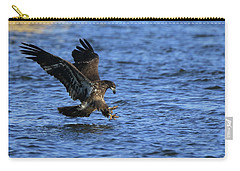 Carry-all Pouch featuring the photograph Juvenile Eagle Fishing by Coby Cooper