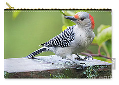 Juvenile Red-bellied Woodpecker In The Rain Carry-all Pouch