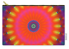 Carry-all Pouch featuring the digital art Jyoti Ahau 184 by Robert Thalmeier