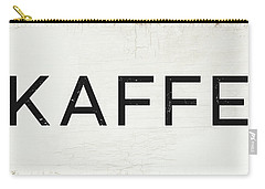 Carry-all Pouch featuring the mixed media Kaffe Sign- Art By Linda Woods by Linda Woods