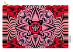 Carry-all Pouch featuring the digital art Kal - 37bc77 by Variance Collections
