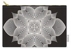 Carry-all Pouch featuring the digital art Kal - 71c89 by Variance Collections