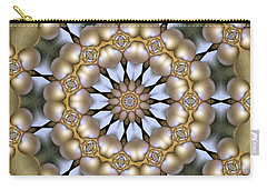 Carry-all Pouch featuring the digital art Kaleidoscope 130 by Ron Bissett