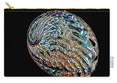Carry-all Pouch featuring the photograph Kaleidoscope Abalone by Rikk Flohr