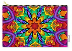 Kaleidoscope Flower 01 Carry-all Pouch