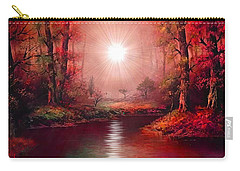 Kaleidoscope Forest Carry-all Pouch by Michael Rucker