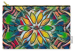 Kaleidoscope In Stained Glass Carry-all Pouch