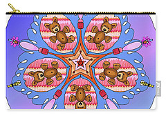 Kaleidoscope Of Bears And Bees Carry-all Pouch