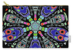 Kaleidoscope Of Skulls Carry-all Pouch