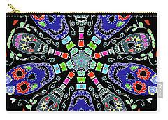 Kaleidoscope Of Skulls Carry-all Pouch by Debra Baldwin