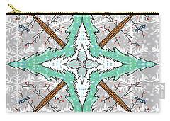 Kaleidoscope Of Winter Trees Carry-all Pouch by Debra Baldwin