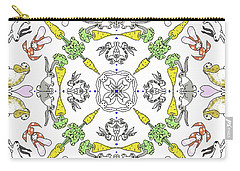 Kaleidoscope Rabbits Carry-all Pouch by Debra Baldwin
