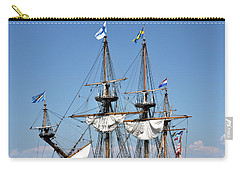 Carry-all Pouch featuring the photograph Kalmar Nyckel - Docked In Lewes Delaware by Brendan Reals