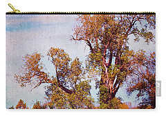 Carry-all Pouch featuring the photograph Kansas Autumn Lane by Anna Louise