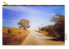Carry-all Pouch featuring the photograph Kansas Autumn Rural Road by Anna Louise