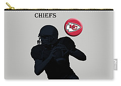 Kansas City Chiefs Football Carry-all Pouch by David Dehner
