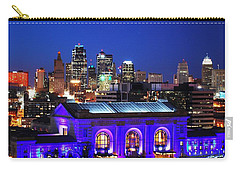 Kansas City Skyline At Night Carry-all Pouch