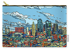 Kansas City Skyline Panorama Carry-all Pouch