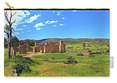 Carry-all Pouch featuring the photograph Kanyaka Homestead Ruins by Bill Robinson