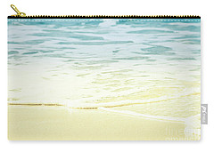 Carry-all Pouch featuring the photograph Kapalua Beach Dream Colours Sparkling Golden Sand Seafoam Maui by Sharon Mau