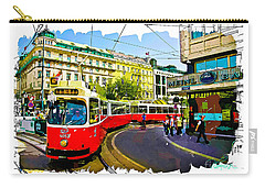 Kartner Strasse - Vienna Carry-all Pouch by Tom Cameron
