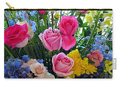 Kate's Flowers Carry-all Pouch by Carla Parris