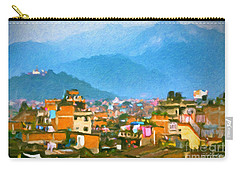 Carry-all Pouch featuring the painting Kathmandu, Nepal by Chris Armytage