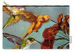 Kathy's Humming Birds Carry-all Pouch