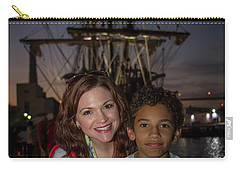 Carry-all Pouch featuring the photograph Katy And Baby James Art by Reid Callaway