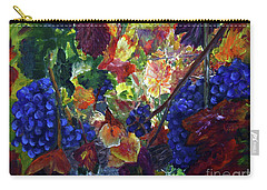 Katy's Grapes Carry-all Pouch by Donna Walsh