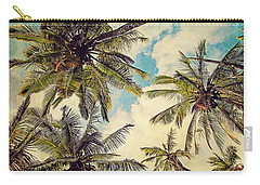 Kauai Island Palms - Blue Hawaii Photography Carry-all Pouch by Melanie Alexandra Price