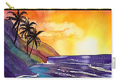 Kauai Na Pali Sunset Carry-all Pouch by Marionette Taboniar