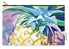 Carry-all Pouch featuring the painting Kauai Pineapple 3 by Marionette Taboniar