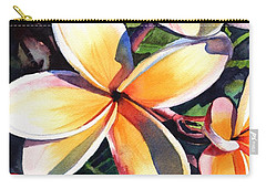 Kauai Rainbow Plumeria Carry-all Pouch