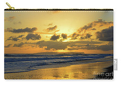 Kauai Sunset With Niihau On The Horizon Carry-all Pouch