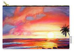 Kauai West Side Sunset Carry-all Pouch by Marionette Taboniar