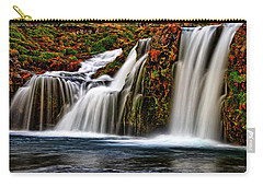 Carry-all Pouch featuring the photograph Kay Falls by Scott Mahon